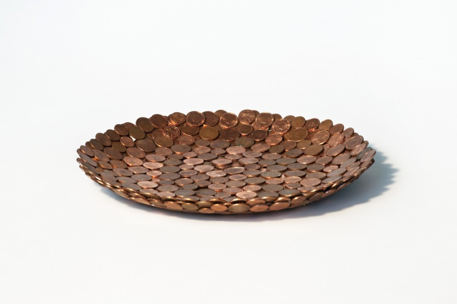 Studio Rolf, penny bowl, coins, 2015, Courtesy Judy Straten Gallery