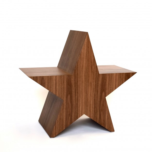 A star is born Chair Walnut by Mischa van der Wekke